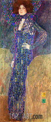 Portrait of Emilie Floge, 1902 | Klimt | Painting Reproduction