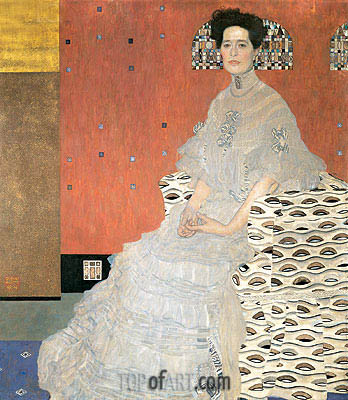 Portrait of Fritza Riedler, 1906 | Klimt | Painting Reproduction