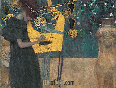 Music I, 1895 | Klimt | Painting Reproduction