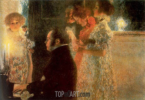 Schubert at the Piano, 1899 | Klimt | Painting Reproduction