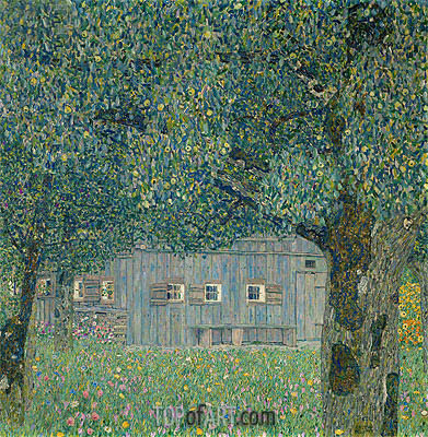Farmhouse in Upper Austria, 1911 | Klimt | Gemälde Reproduktion