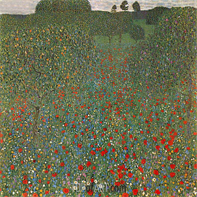 Poppy Field, 1907 | Klimt | Painting Reproduction