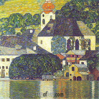 Church at Unterach at Attersee, c.1916/17 | Klimt | Painting Reproduction