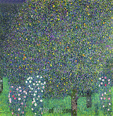 Roses Under the Trees, 1905 | Klimt | Gemälde Reproduktion