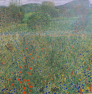 Field of Flowers (Orchard), c.1905 | Klimt | Painting Reproduction