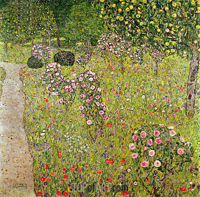 Orchard with Roses, c.1911/12 | Klimt | Gemälde Reproduktion