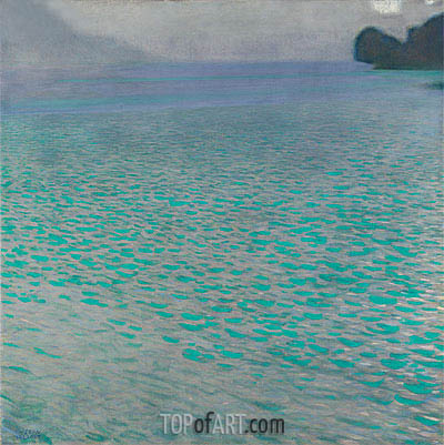Attersee I, 1901 | Klimt | Painting Reproduction