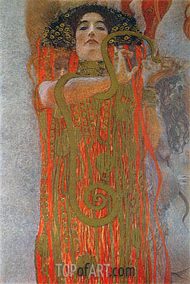 Hygieia (detail from Medicine), c.1900/07 | Klimt | Painting Reproduction