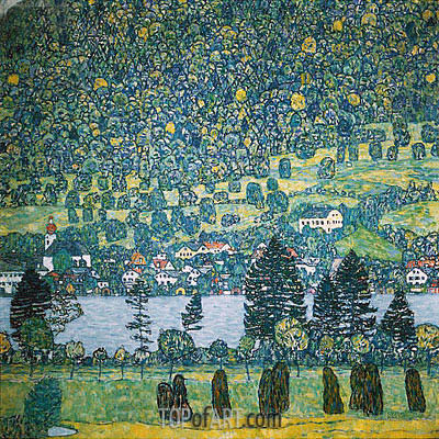 Forest Slope in Unterach on the Attersee, 1917 | Klimt | Gemälde Reproduktion