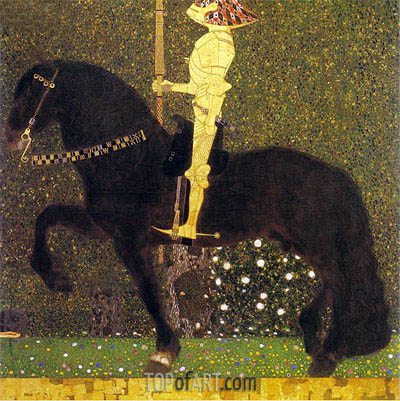 The Golden Knight (Life is a Struggle), 1903 | Klimt | Gemälde Reproduktion