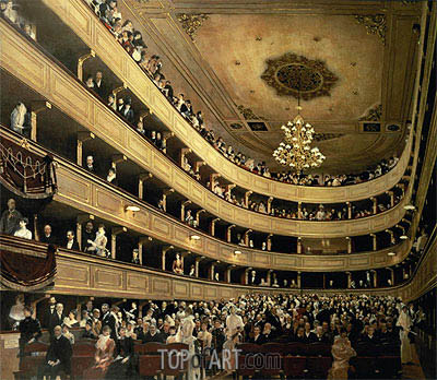 The Auditorium of the Old Castle Theatre, 1888 | Klimt | Painting Reproduction