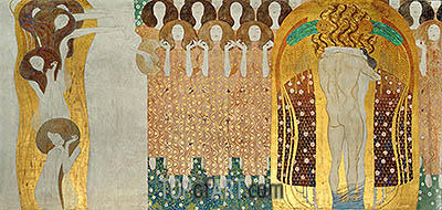 Choir of Angels (The Beethoven Frieze), 1902 | Klimt | Painting Reproduction