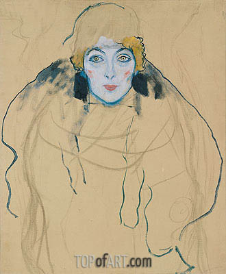 Head of a Woman, 1917 | Klimt | Gemälde Reproduktion