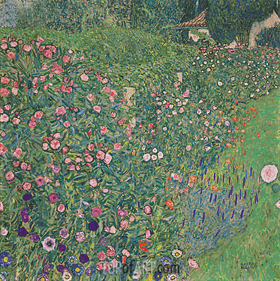 Italian Garden Landscape, 1913 | Klimt | Painting Reproduction