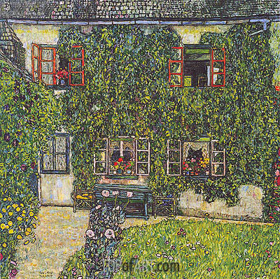 Forester's House in Weissenbach on the Attersee, 1914 | Klimt | Painting Reproduction