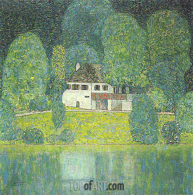 The Litzlbergkeller on the Attersee, c.1912/16 | Klimt | Painting Reproduction