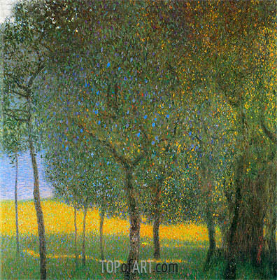 Fruit Trees, 1901 | Klimt | Gemälde Reproduktion