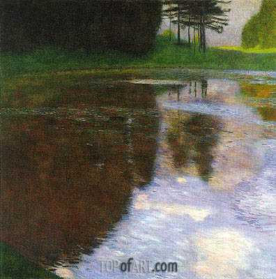 A Morning by the Pond, 1899 | Klimt | Painting Reproduction