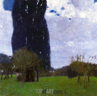 The Tall Poplar I, 1900 | Klimt | Gemälde Reproduktion