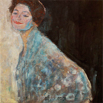 Portrait of a Lady in White, c.1917/18 | Klimt | Painting Reproduction