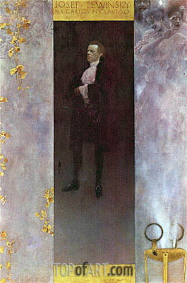 Hofburg actor Josef Lewinsky as Carlos, 1895 | Klimt | Painting Reproduction
