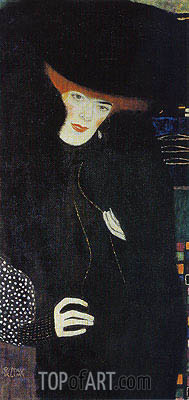Portrait of a Lady in Red and Black, c.1907/08 | Klimt | Gemälde Reproduktion