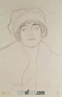 Portrait of a Young Woman, Undated | Klimt | Painting Reproduction