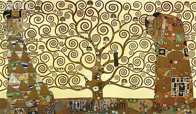 The Tree of Life - Stoclet Frieze, c.1905/06 | Klimt | Painting Reproduction