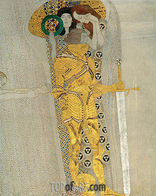 The Knight in Shining Armor (The Beethoven Frieze), 1902 | Klimt | Gemälde Reproduktion