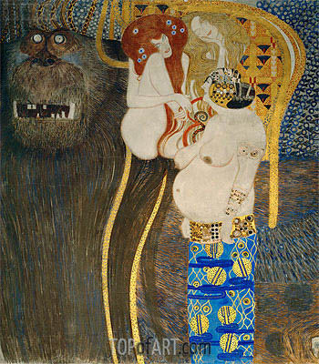 Detail from The Hostile Powers (The Beethoven Frieze), 1902 | Klimt | Gemälde Reproduktion