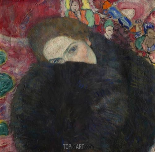 Lady with a Muff, c.1916/17 | Klimt | Painting Reproduction