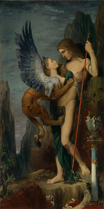 Oedipus and the Sphinx, 1864 | Gustave Moreau | Painting Reproduction