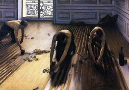 The Floor Scrapers, 1875 by Caillebotte | Painting Reproduction
