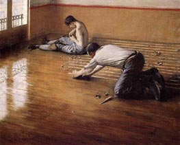 The Floor Scrapers (variation), 1876 by Caillebotte | Painting Reproduction