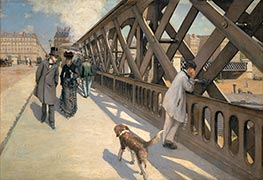 The Pont de Europe, 1876 by Caillebotte | Painting Reproduction