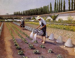 The Gardeners, c.1875/77 by Caillebotte | Painting Reproduction