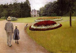 The Park on the Caillebotte Property at Yerres, 1875 by Caillebotte | Painting Reproduction