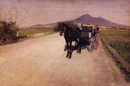 A Road near Naples | Caillebotte | Painting Reproduction
