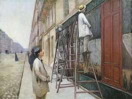 The House Painters, 1877 by Caillebotte | Painting Reproduction