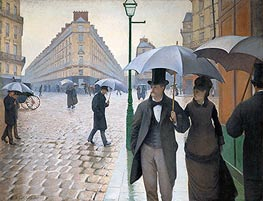 Paris Street; Rainy Weather, 1877 by Caillebotte | Painting Reproduction