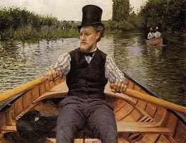 Boating Party, 1877 by Caillebotte | Painting Reproduction