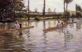 Perissoires, 1877 by Caillebotte | Painting Reproduction