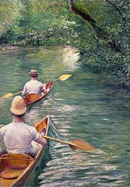 Perissoires (The Canoes), 1878 by Caillebotte | Painting Reproduction