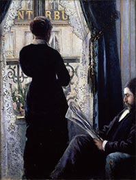 Interior, Woman at the Window | Caillebotte | Painting Reproduction