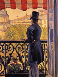 The Man on the Balcony | Caillebotte | Painting Reproduction