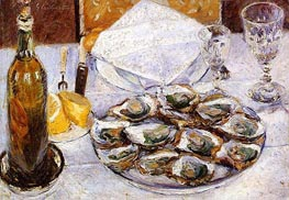 Still Life with Oysters | Caillebotte | Painting Reproduction