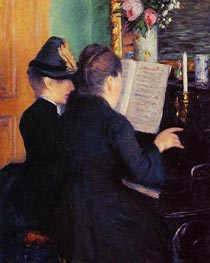 The Piano Lesson | Caillebotte | Painting Reproduction