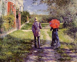 Rising Road | Caillebotte | Painting Reproduction