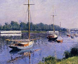 The Basin at Argenteuil | Caillebotte | Gemälde Reproduktion