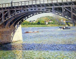 The Argenteuil Bridge and the Seine, c.1883 von Caillebotte | Gemälde-Reproduktion